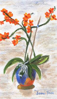 Poster featuring the painting Orchid by Jamie Frier