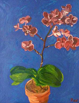 Poster featuring the painting Orchids by Joshua Redman