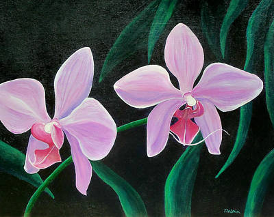 Poster featuring the painting Orchids by Susan DeLain