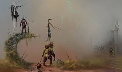 Orcs Of The White Hand  Poster by Joe Gilronan