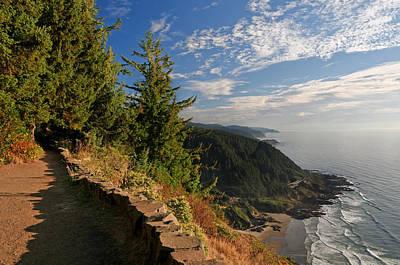 Poster featuring the photograph Oregon Coast Cape Perpetua View by Lara Ellis