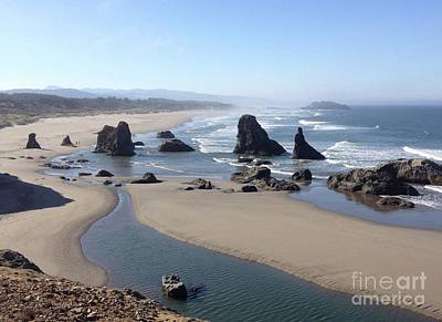 Poster featuring the photograph Oregon Coast Sea Stacks by Barbara Von Pagel