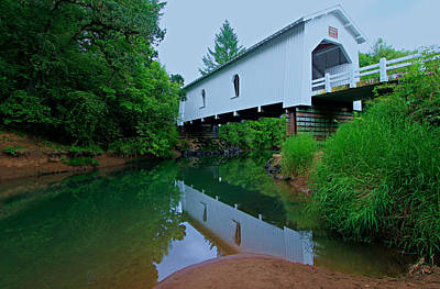 Oregon Covered Bridge Poster