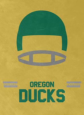 Oregon Ducks Vintage Football Art Poster by Joe Hamilton