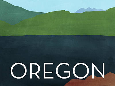 Oregon Landscape- Art By Linda Woods Poster by Linda Woods