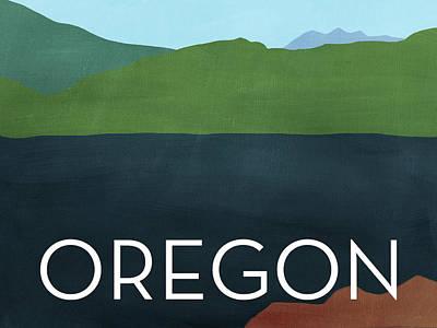 Oregon Landscape- Art By Linda Woods Poster