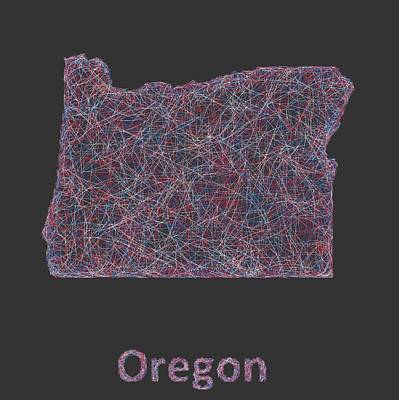 Oregon Map Poster by David Zydd