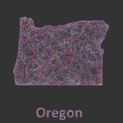 Oregon Map Poster