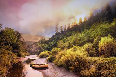 Oregon Mountain River Poster by Debra and Dave Vanderlaan