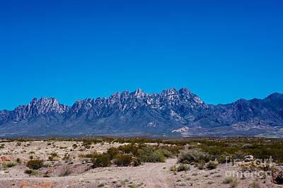 Organ Mountains Las Cruces New Mexico Poster by Gabriel G Medina