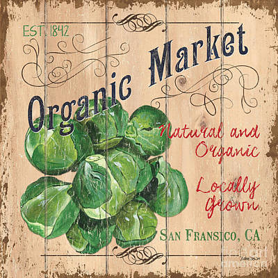 Organic Market Poster by Debbie DeWitt