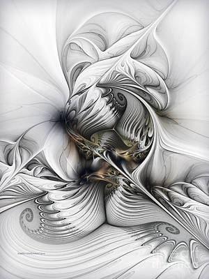 Poster featuring the digital art Organic Spiral Tower Construction by Karin Kuhlmann