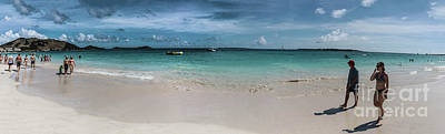 Orient Beach, St Martin Panorama Poster by Thomas Marchessault