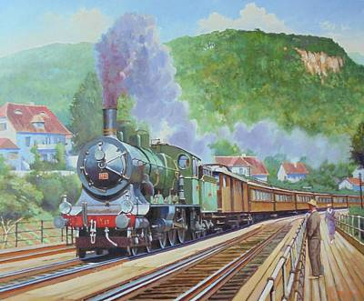 Poster featuring the painting Orient Express 1920 by Mike Jeffries