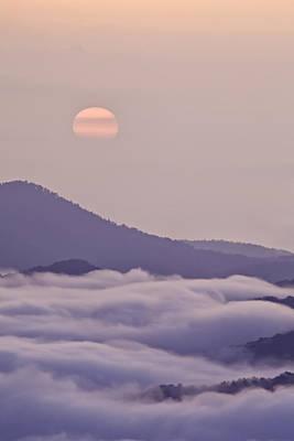Oriental Blue Ridge Sunrise Poster by Rob Travis