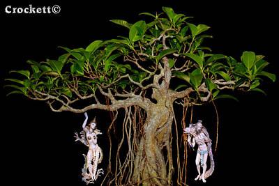 Oriental Bonsai Gods Poster by Gary Crockett