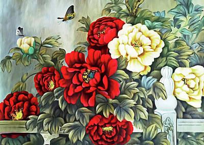 Poster featuring the photograph Oriental Flowers by Munir Alawi