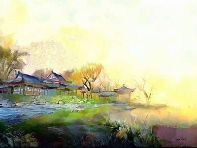 Oriental Horizon Poster by Wayne Pascall