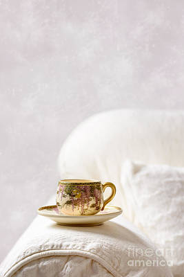 Oriental Teacup And Saucer Poster by Amanda Elwell