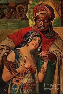 Poster featuring the painting Orientalisches Paar  by Pg Reproductions