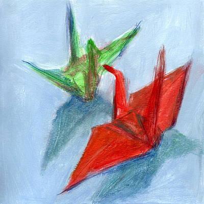 Origami Cranes Poster
