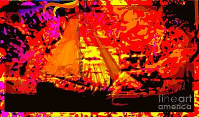 Original Abstract Digital Painting Poster by Larry Lamb