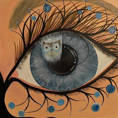 Original Acrylic Artwork By Mimi Stirn - Hoomasters Collection Hoodali #412 Mimi's Self Portrait Poster