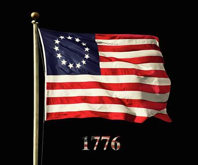 Original American Flag Poster by Steven Michael