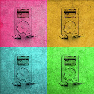 Original Apple Ipod Vintage Pop Art Poster by Design Turnpike