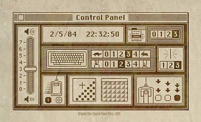 Original Mac Computer Control Panel Circa 1984 Poster