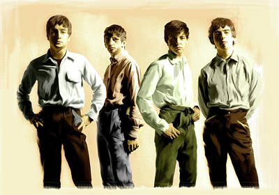 Original Punk The Beatles Poster by Iconic Images Art Gallery David Pucciarelli