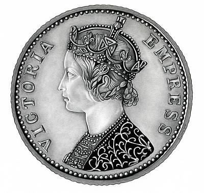 Original Silver Victoria Empress Poster by Fred Larucci