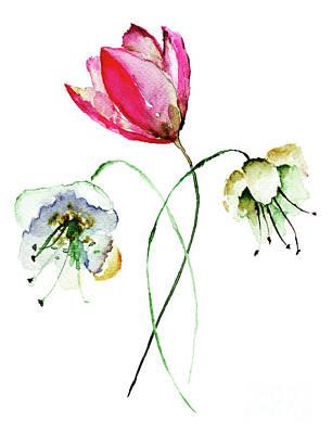 Original Summer Flowers Poster