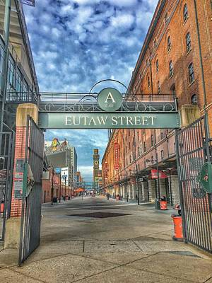 Oriole Park At Camden Yards - Eutaw Street Gate Poster by Marianna Mills