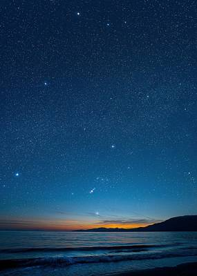 Orion Over The Georgia Strait, Canada Poster