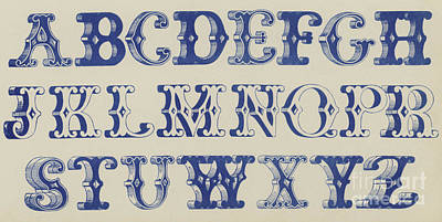 Ornamental Font Poster by English School