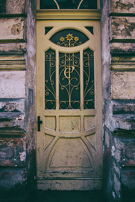 Ornamented Doors In Light Brown Color Poster