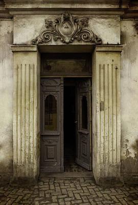 Ornamented Gate In Dark Brown Color Poster