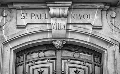 Ornate Door In Paris Poster by Pablo Lopez