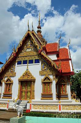 Ornate Gold Decorated Buddhist Temple Hat Yai Thailand Poster by Imran Ahmed