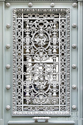 Ornate Green Door Paris Photograph Poster by Ivy Ho