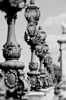 Ornate Paris Street Lamp Poster