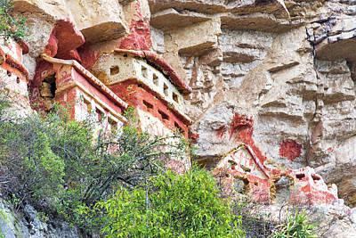 Ornate Revash Tombs In Peru Poster