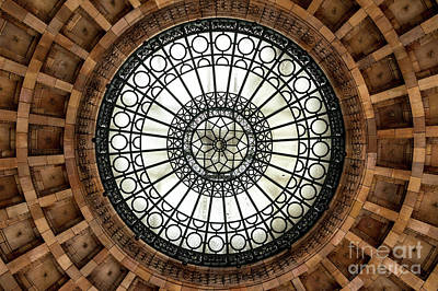 Ornate Stone And Glass Ceiling Poster by Clinton Weaver