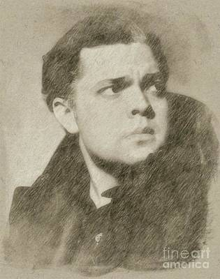 Orson Welles Vintage Hollywood Actor Poster by Frank Falcon