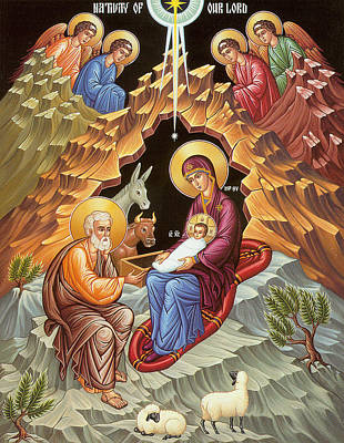 Orthodox Nativity Scene Poster