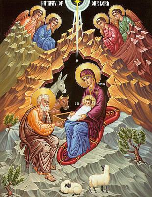 Orthodox Nativity Scene Poster by Munir Alawi