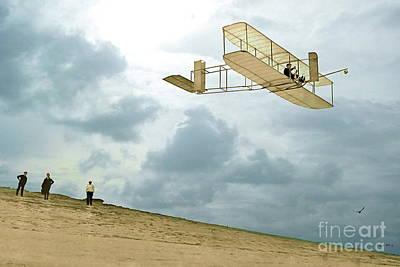 Orville Wright Soars Above Kill Devil Hill Poster