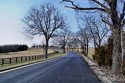 Poster featuring the photograph Osage County Road by Cricket Hackmann