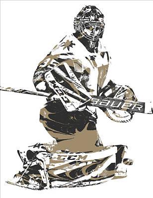 Oscar Dansk Vegas Golden Knights Pixel Art 1 Poster